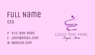 Fashion Belt Accessory  Business Card