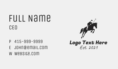 Horse Polo Sport Business Card