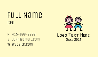 Young Children Business Card
