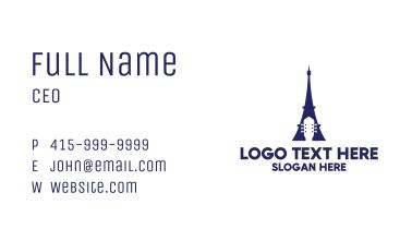Blue Eiffel Guitar Business Card