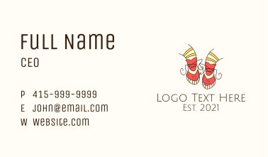 Girl Kids Shoes Business Card