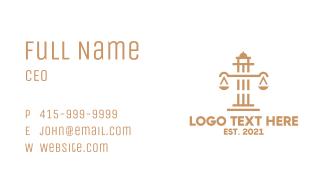 Legal Scales Pillar Business Card