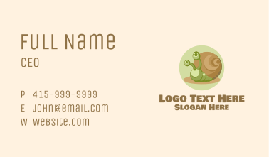 Cute Cartoon Snail Business Card