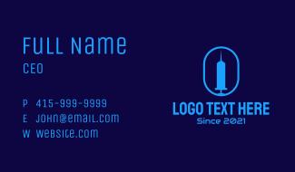 Medical Tower Syringe Business Card