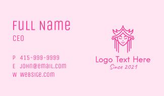 Minimalist Royal Princess Business Card