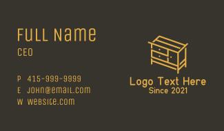 Drawer Dresser Furniture Business Card