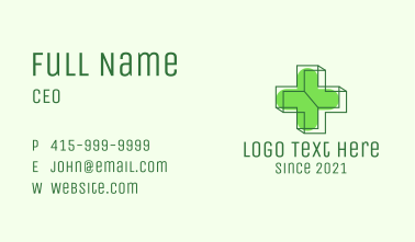 3D Medical Cross  Business Card