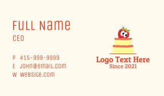 Strawberry Layered Cake Business Card