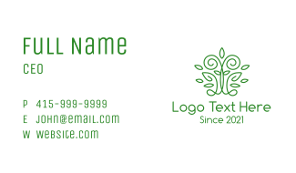 Green Tree Abstract Business Card