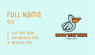 Pelican Delivery Mascot Business Card