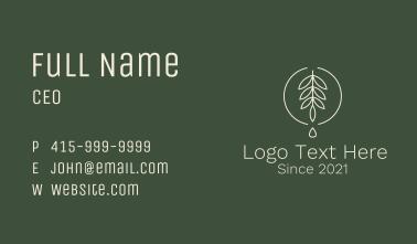 Eucalyptus Leaf Oil Business Card