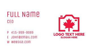 Canadian Camera Business Card