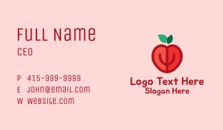 Apple Fruit Heart  Business Card
