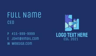 Geometric Building Business Card