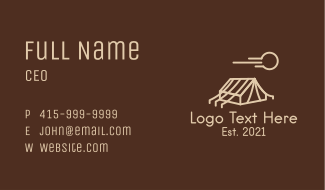 Outdoor Camping Tent  Business Card