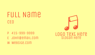 Mobile Musical Note Business Card