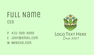 Natural Agriculture Farm Business Card