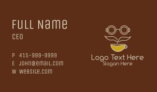Coffee Shop Mustache Business Card