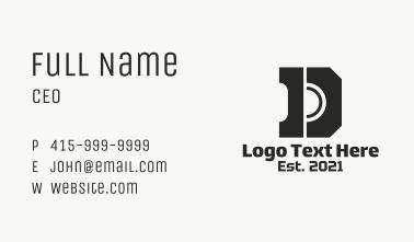Industrial Letter D Hardware Business Card