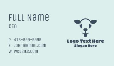 Blue Headset Dog Business Card