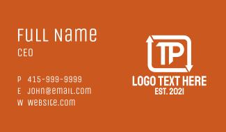Arrow Loop Letter T & P Business Card