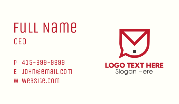 email - Voice Mail Business card horizontal design