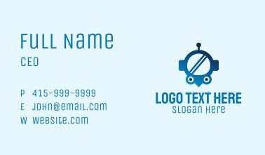 Blue Helmet Location Pin Business Card