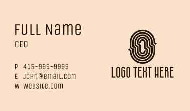 Retro Fashion Letter O Business Card