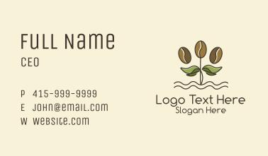 Coffee Bean Plant Business Card