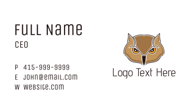 Brown Owl Business Card