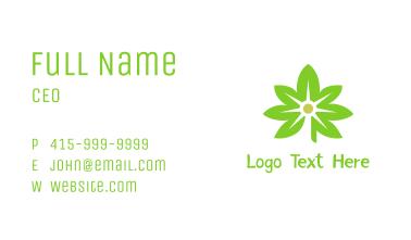Green Cannabis Light  Business Card