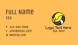 Cartoon Goldfinch Bird Business Card