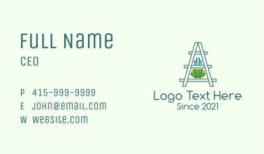 Gardening Plant Platform Business Card