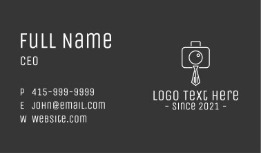 Photography Necktie Business Card