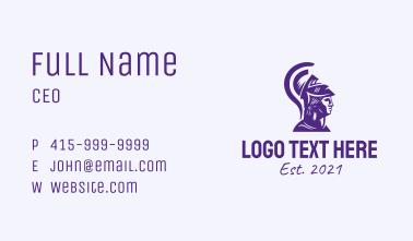 Violet Greece Warrior  Business Card
