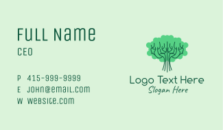 Green Tree Park  Business Card