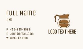 Coffee Bean Pot Business Card