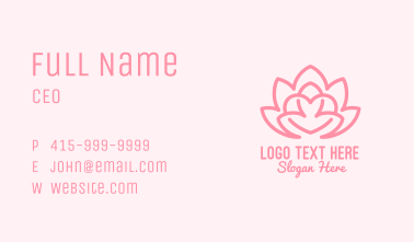 Pink Lovely Lotus  Business Card