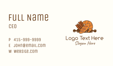 Baked Bread Pastry Business Card