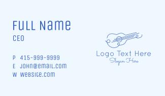 Minimalist Guitar Drawing Business Card