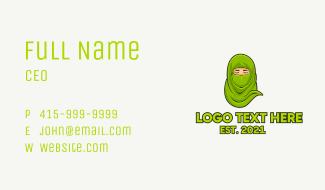 Muslim Niqab Avatar Business Card