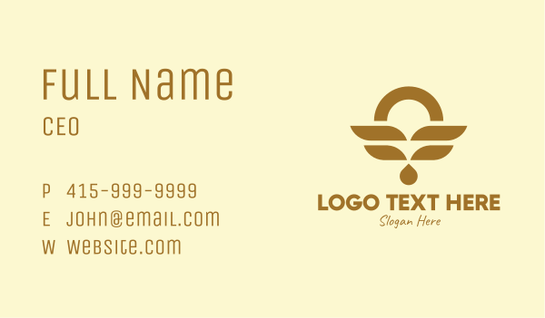 necklace - Luxury Gold Jewelry  Business card horizontal design