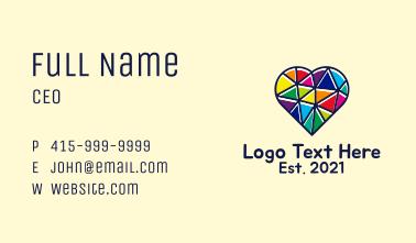 Multicolor LGBT Heart  Business Card