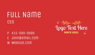 Christmas Decor Text Business Card