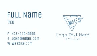 Airplane Flight Business Card