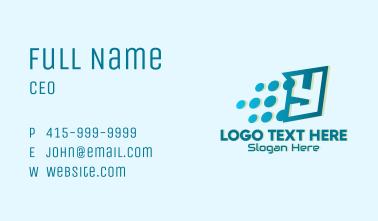 Digital Pixels Letter Y Business Card