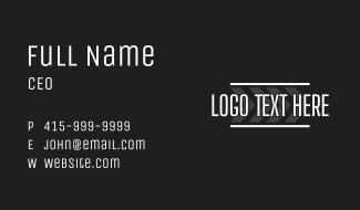 Road Lane Wordmark Business Card