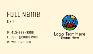 Camping Tent Outdoor Business Card