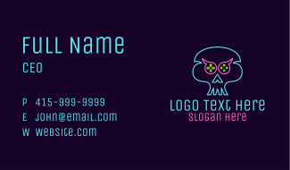 Ghost Skull Game Controller Business Card