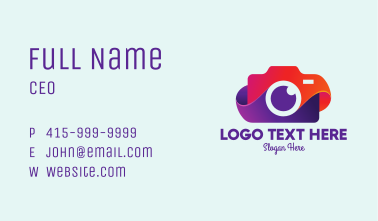 Colorful Camera App Business Card